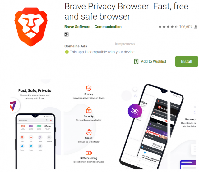 Brave privacy browser